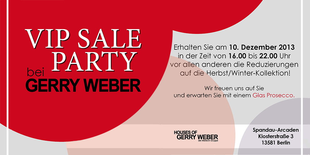 VIP Sale bei Gerry Weber