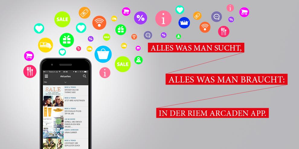 Unsere Riem Arcaden-App