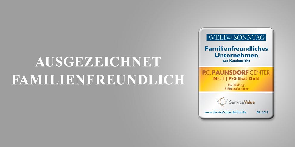 Paunsdorf Center holt Gold für Familienfreundlichkeit