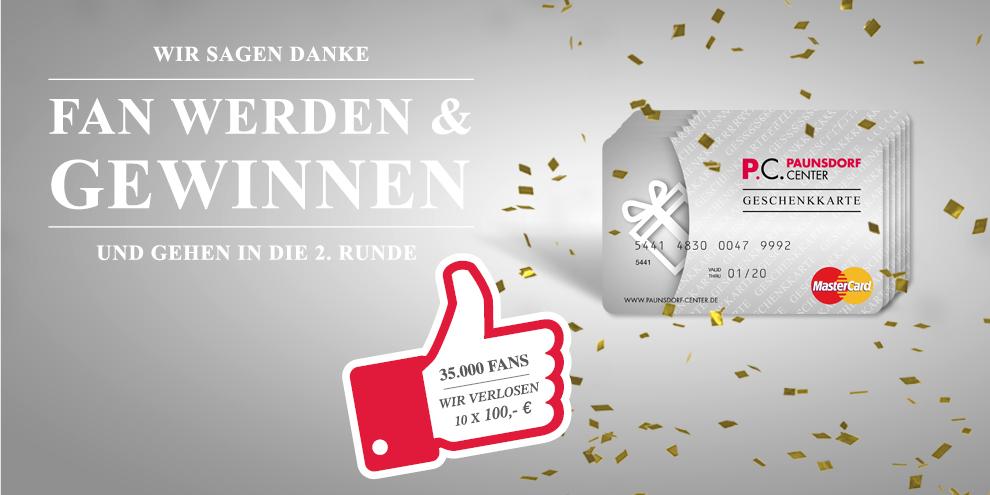 Wir sagen Danke - 35.000 Fans für das Paunsdorf Center
