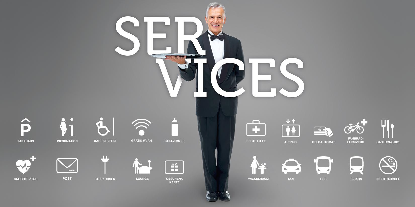 Servicevielfalt in den Spandau Arcaden