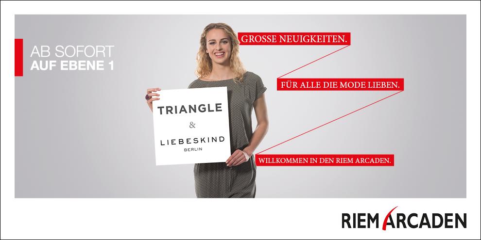 Neu in den Riem Arcaden: TRIANGLE und LIEBESKIND