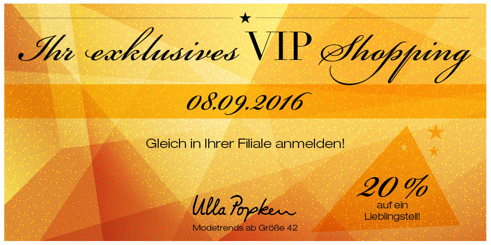 VIP-Abend bei Ulla Popken