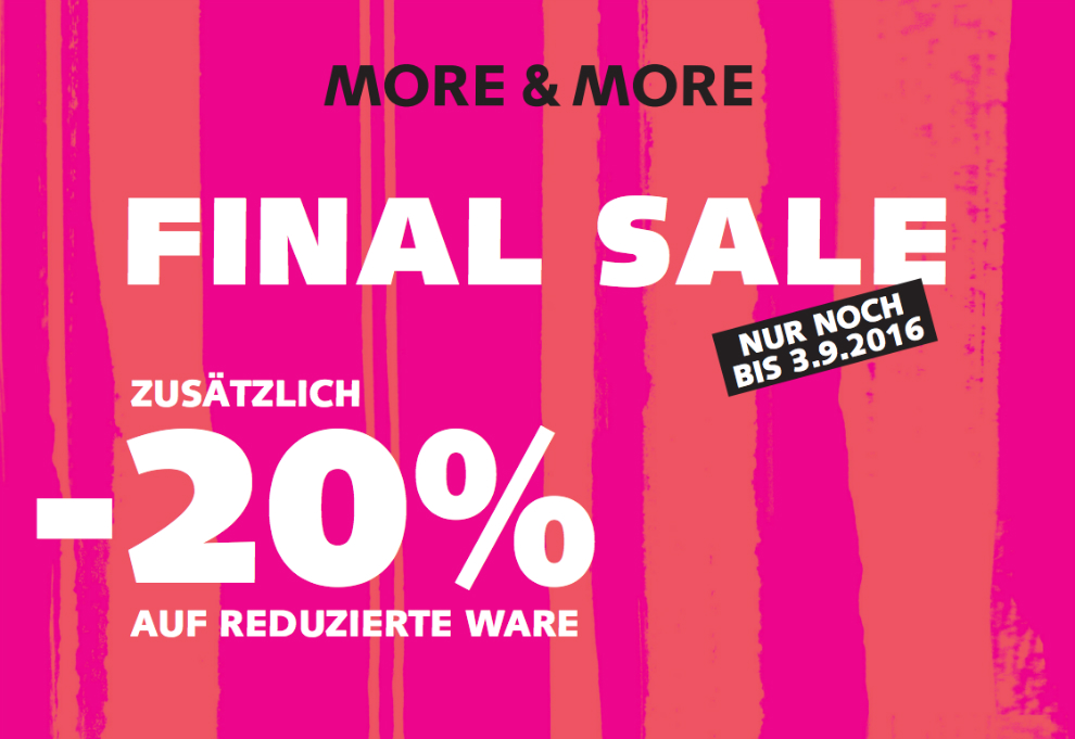 Final Sale bei MORE & MORE