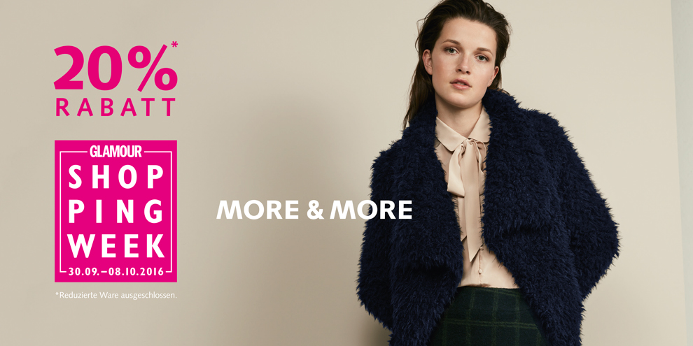 Glamour Shopping Week bei MORE & MORE