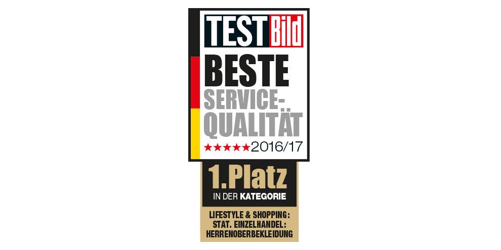 Prädikat ,,Beste Service-Qualität''