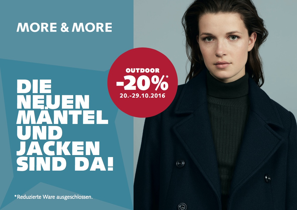 OUTDOOR AKTION BEI MORE & MORE