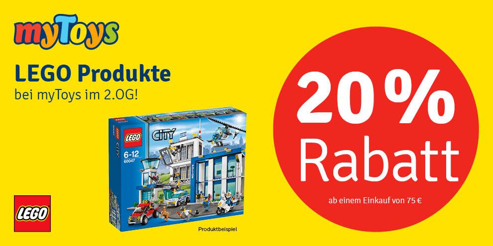 20 % Rabatt auf LEGO Produkte