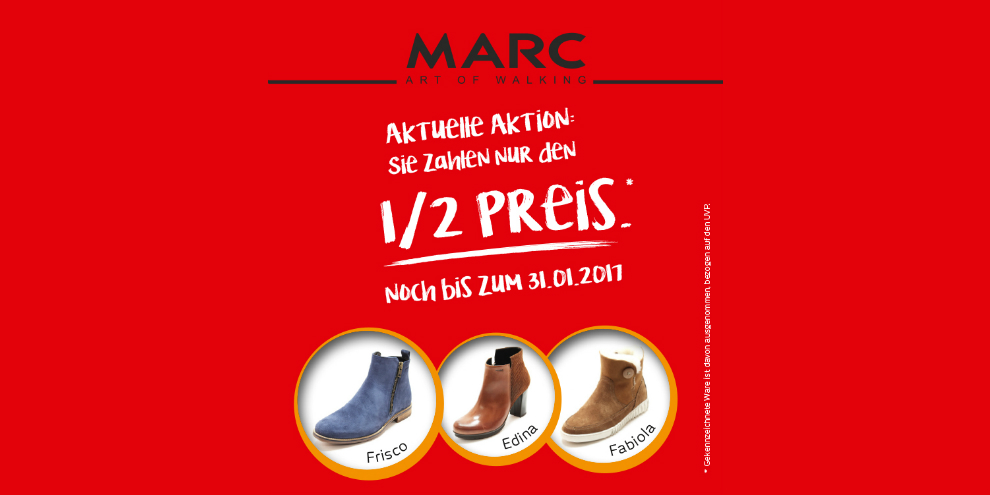 Sparaktion bei MARC Shoes