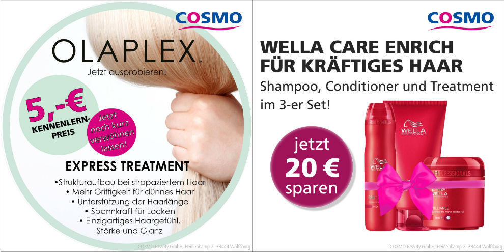 Neue Angebote bei Cosmo