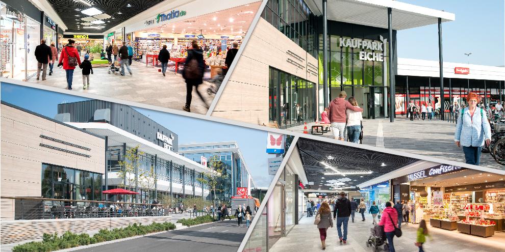 Willkommen in der bunten Shoppingwelt des Kaufpark Eiche