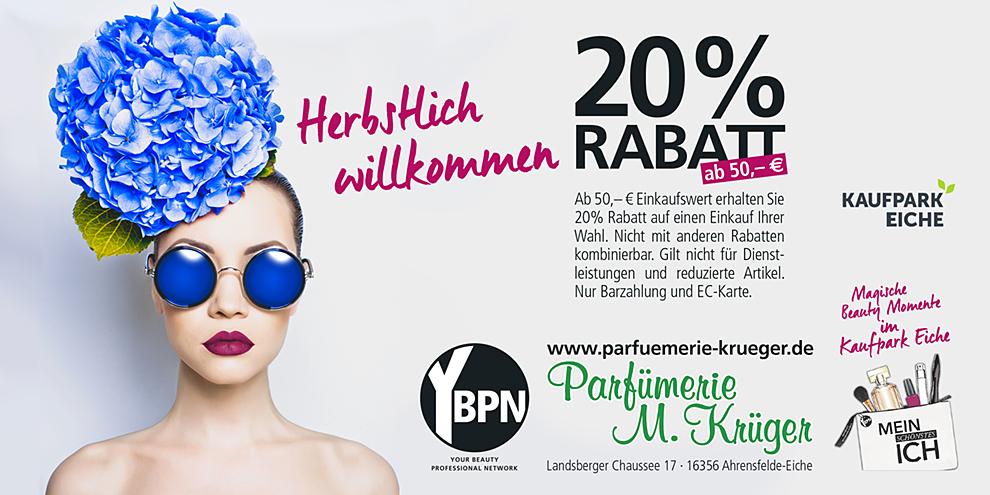 Rabatt bei Parfümerie M. Krüger
