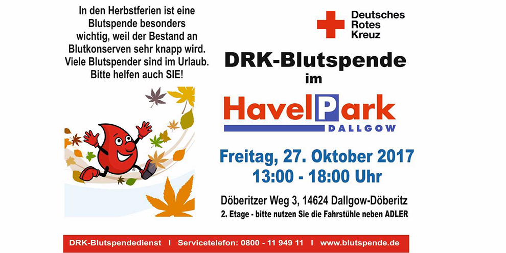 Blutspendeaktion am 27. Oktober 2017