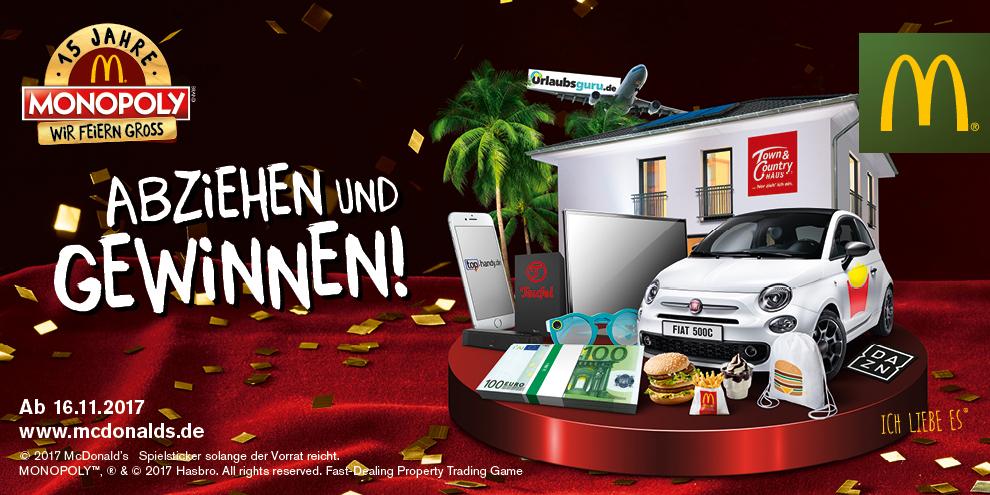 Das McDonald's Monopoly wird 15!