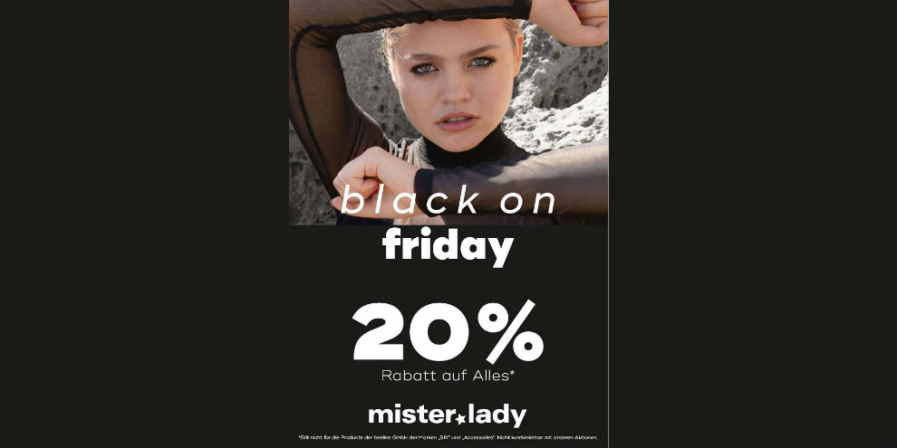 Black on Friday bei mister*lady