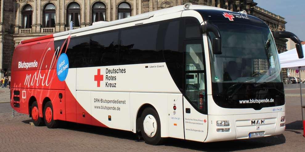 Der DRK Blutspendebus am Kaufpark Dresden