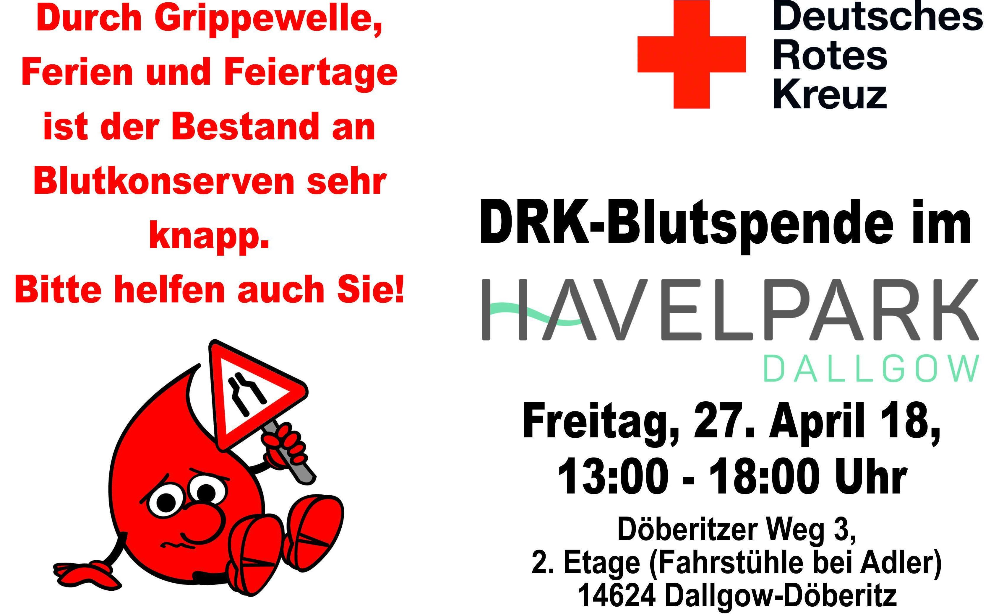 Blutspendeaktion am 27. April 2018