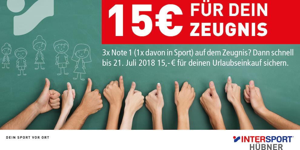 Zeugnisaktion von Intersport Hübner