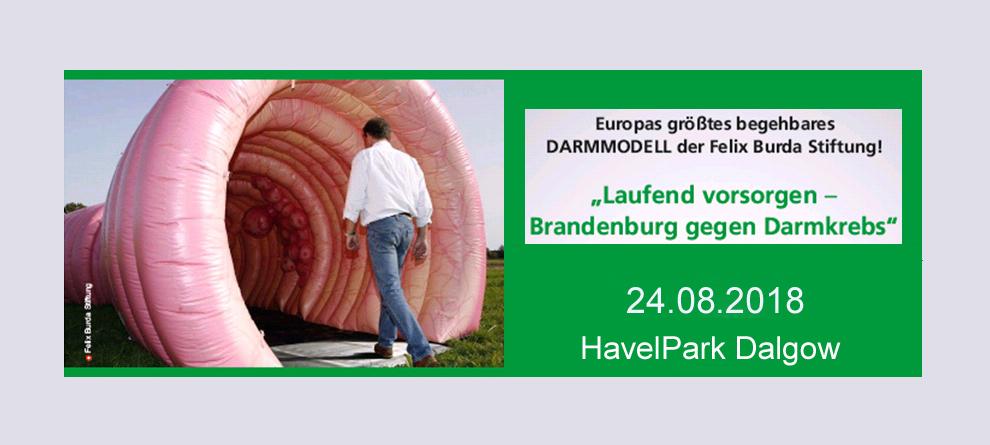 Aktionstag zur Darmkrebsvorsorge am 24. August 2018 im Havelpark Dallgow