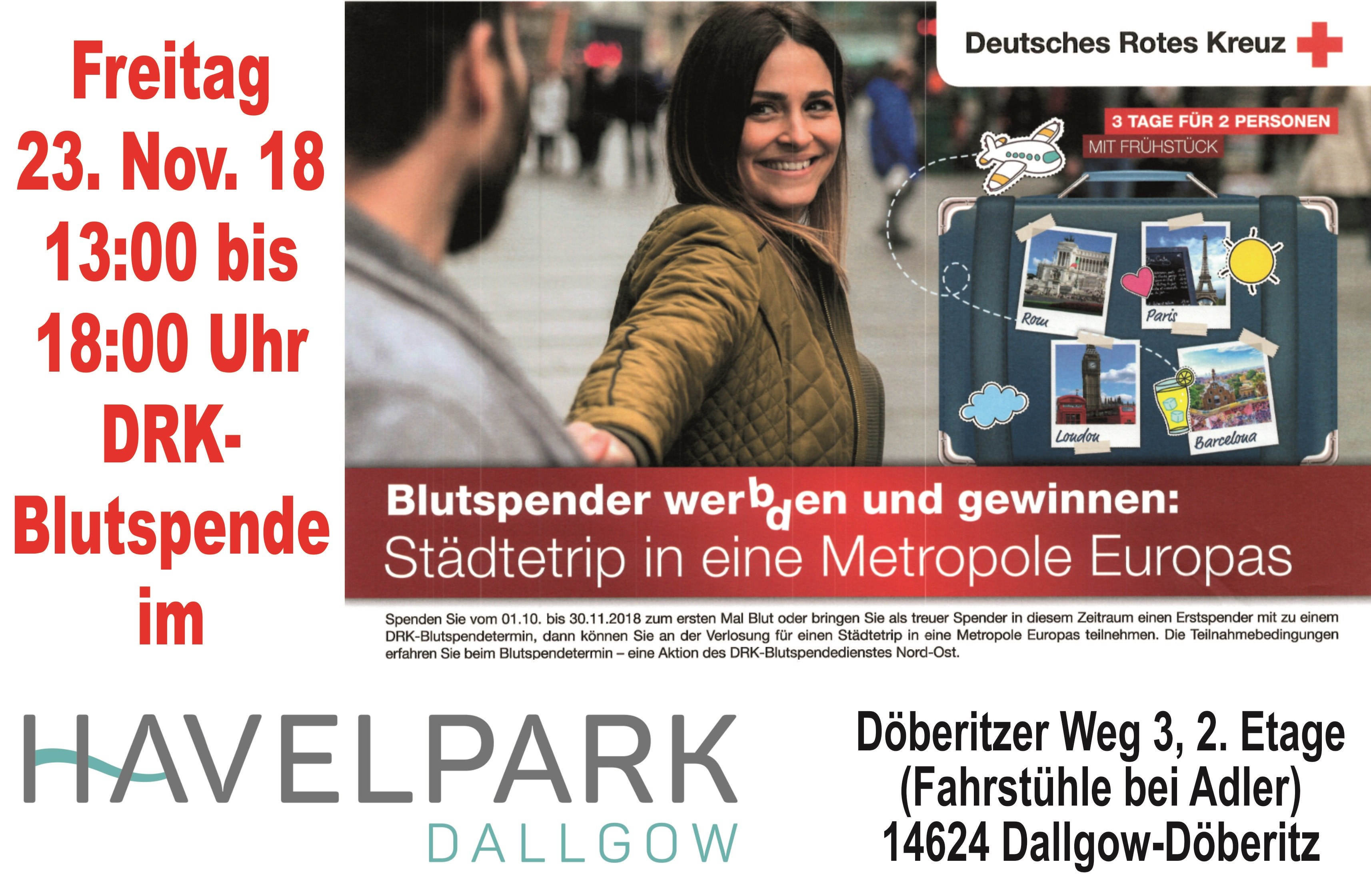 Blutspendeaktion am 23. November 2018