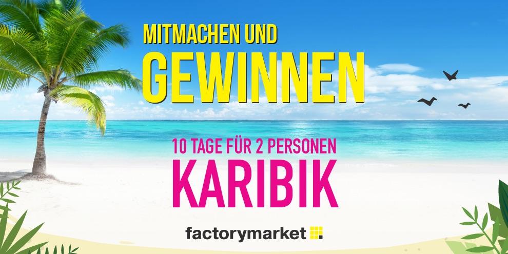 Raus aus dem Alltag, rein ins Paradies mit Factorymarket!