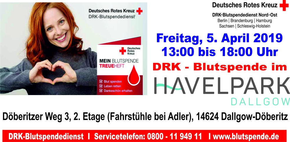 Blutspendeaktion am 5. April 2019