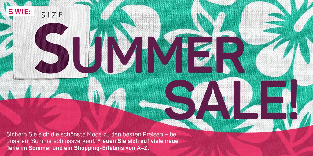 S wie: Summer Sale und Gewinnspiel
