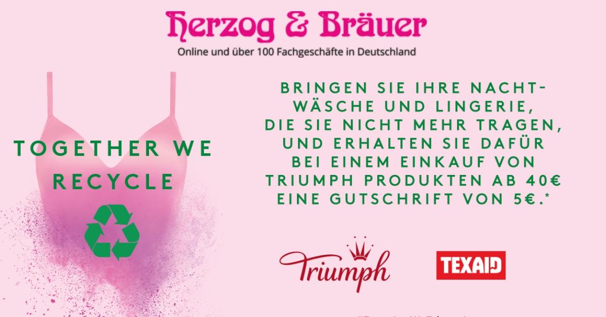 Recyclingaktion bei Herzog & Bräuer