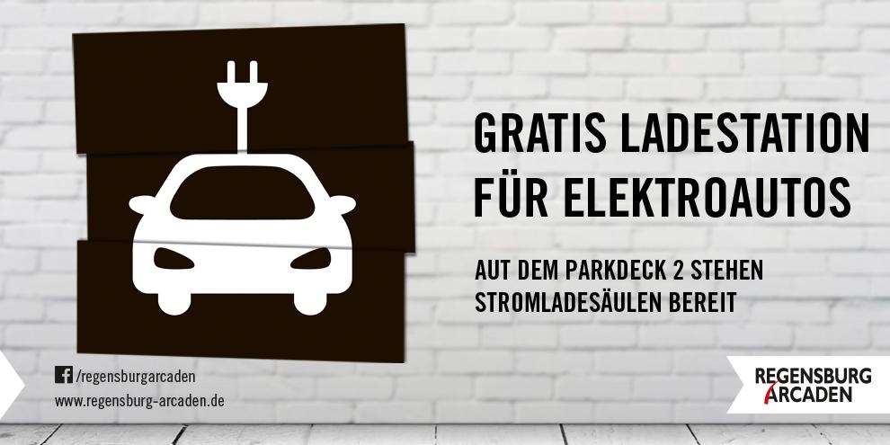 Gratis Ladestation für Elektroautos