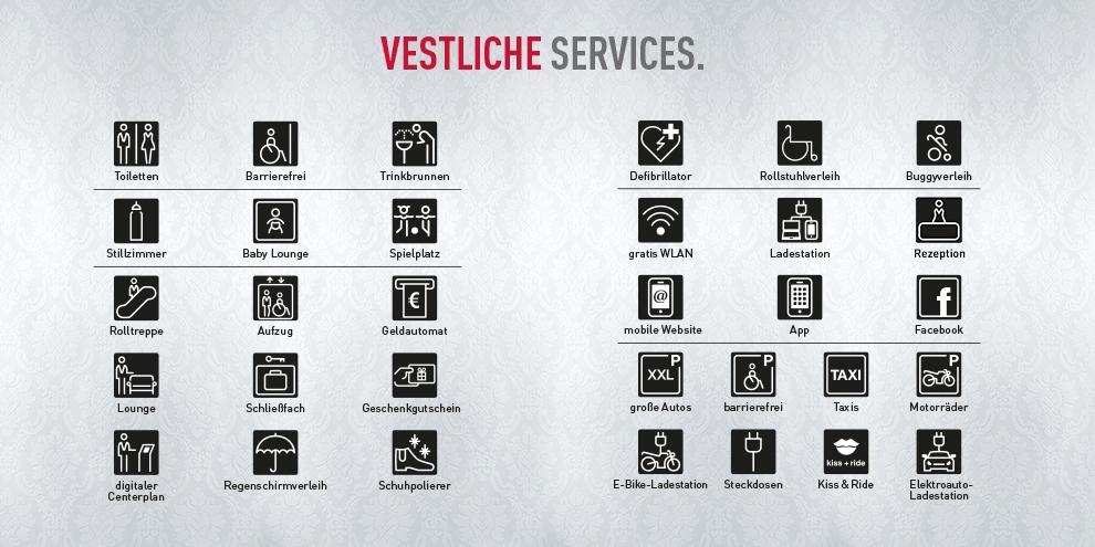 Vestliche Services im Palais Vest