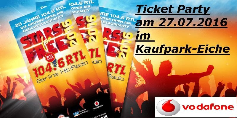 Stars for Free 2016 bei vodafone