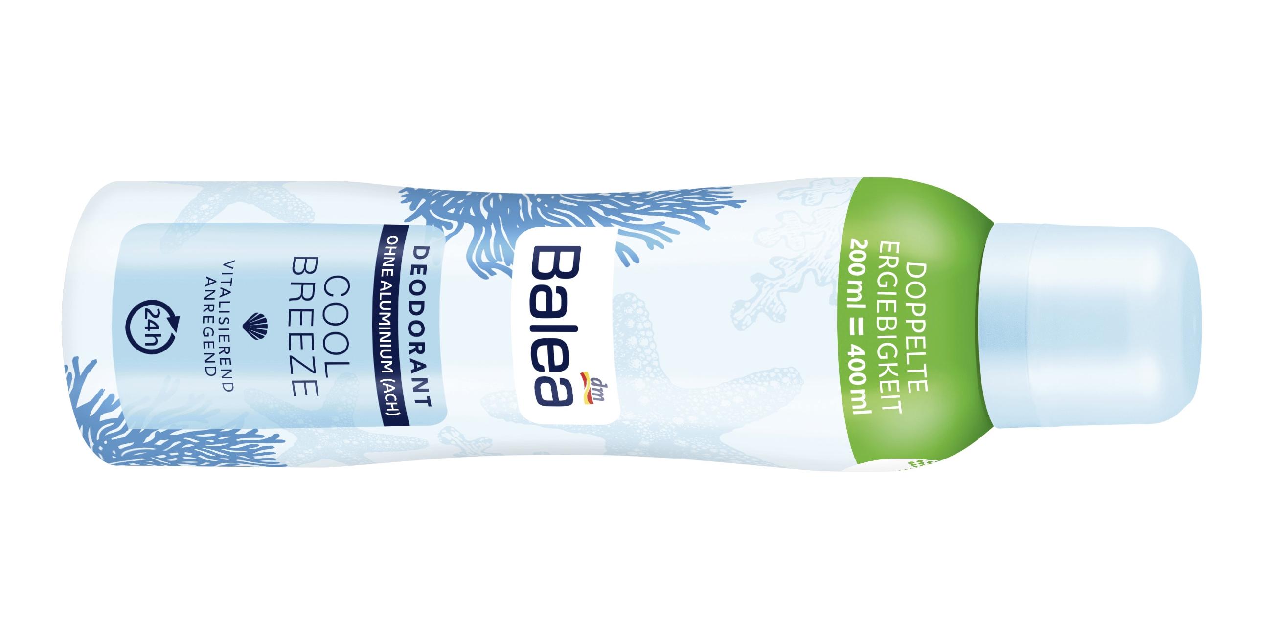 Doppelte Ergiebigkeit von Balea-Deodorants