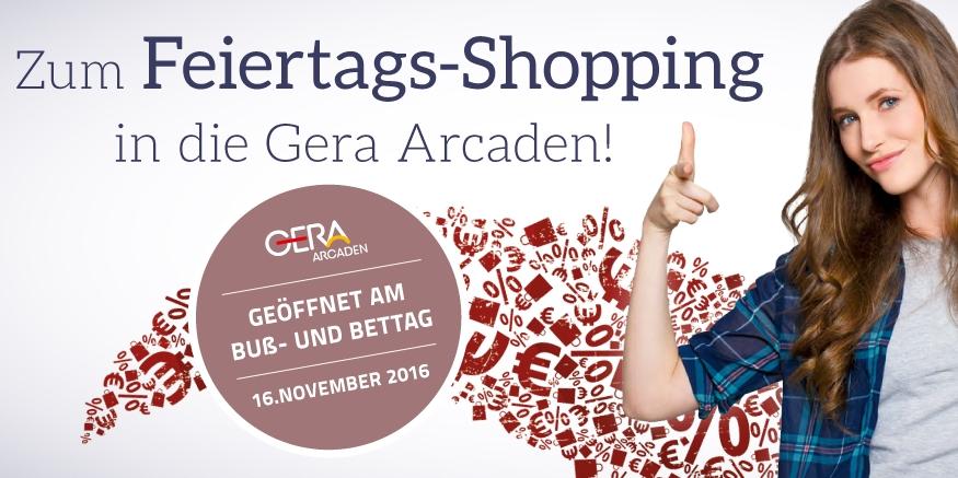 Feiertags-Shopping in den Gera Arcaden