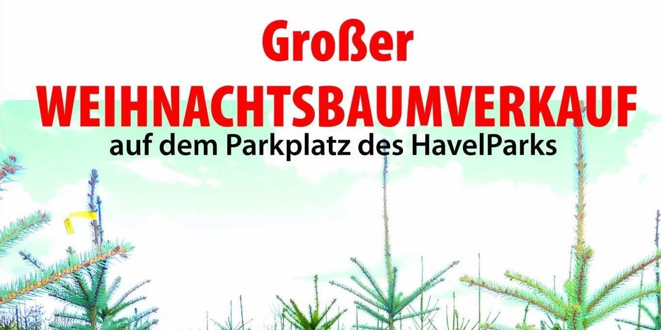 Großer Weihnachtsbaumverkauf im HavelPark Dallgow