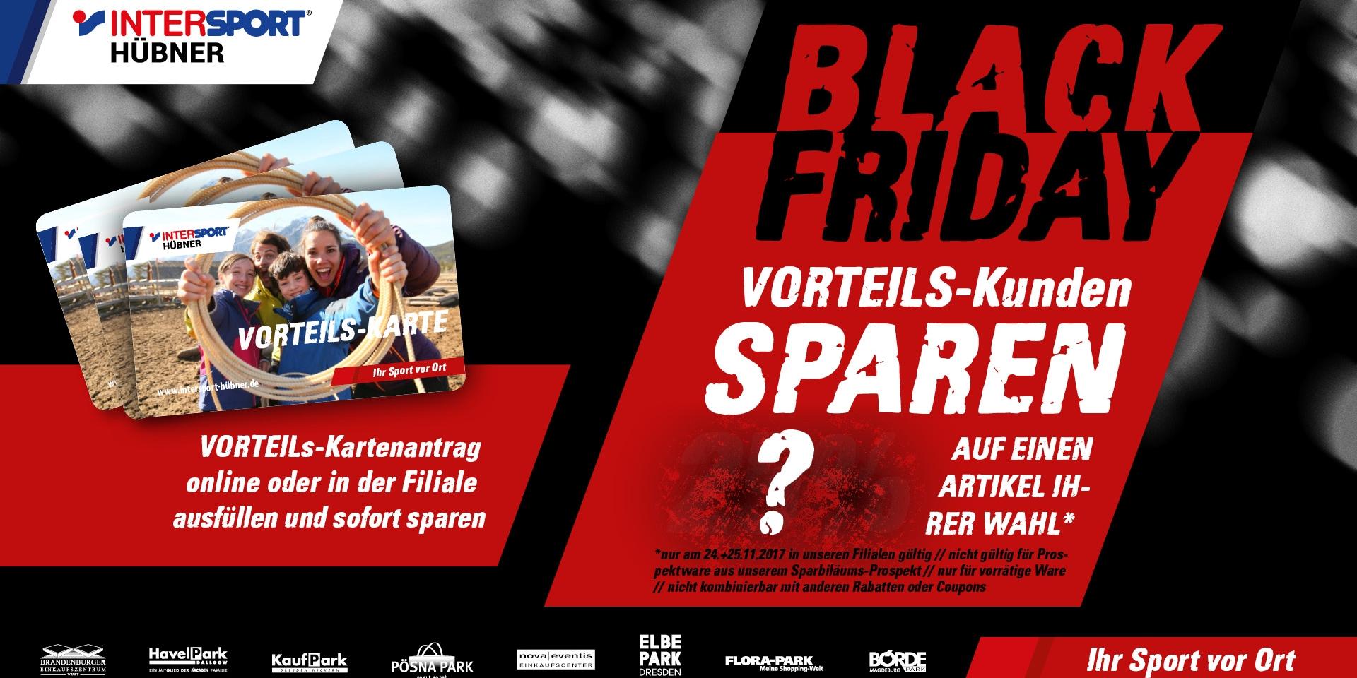 BLACK FRIDAY bei INTERSPORT Hübner